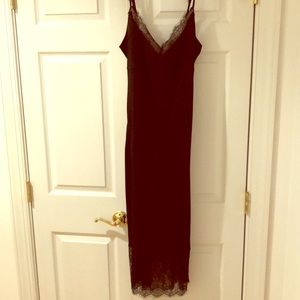 DVF Margarit silk slip dress, sz 10 black